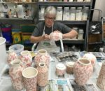Dian Magie makes her pottery in Hendersonville