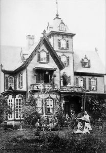 An early photo of the Mountain Magnolia Inn