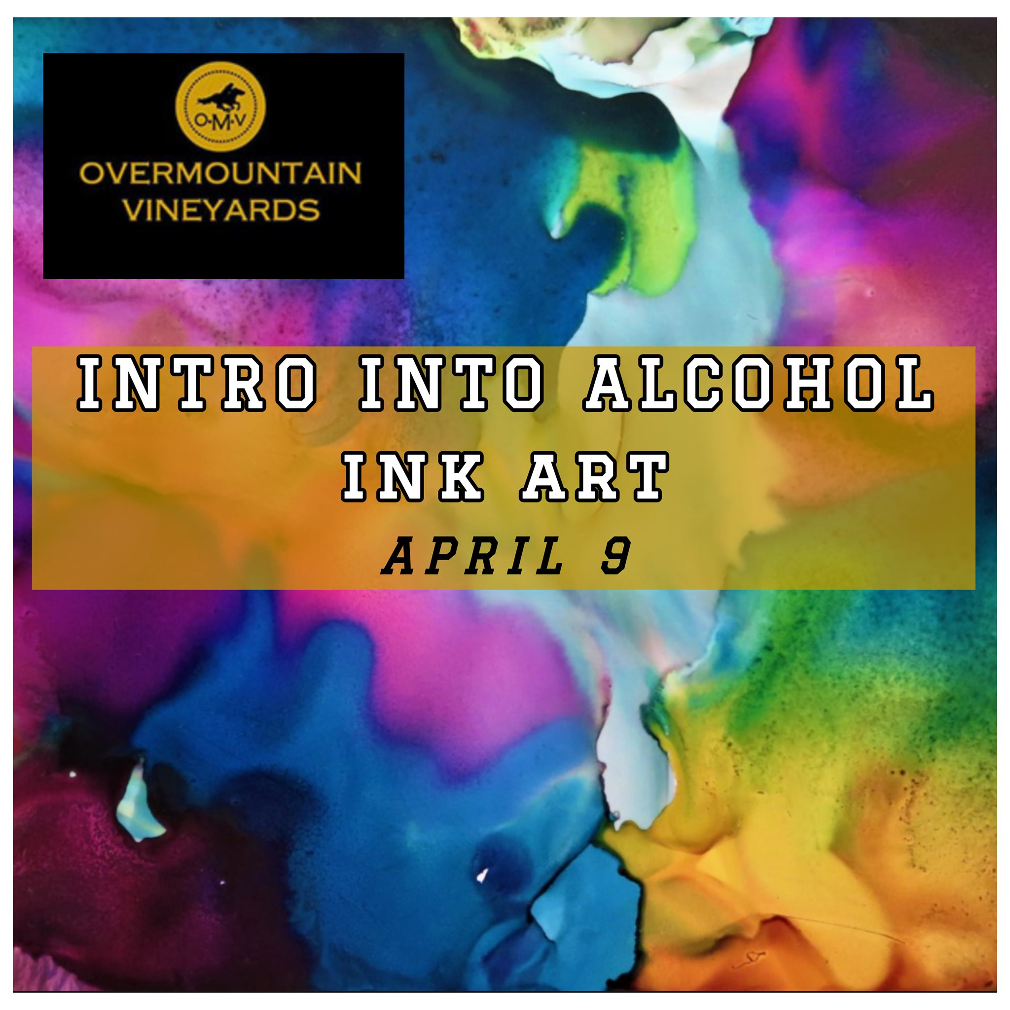 Intro to Alcohol Ink at Overmountain Vineyards