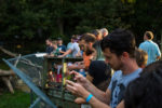 People looking at bears at the WNC Nature Center in the NC Blue Ridge