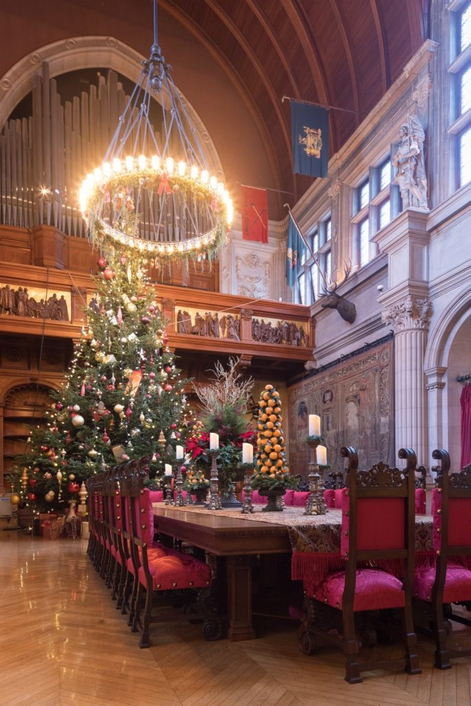 The 34 foot Fraser fir decorated for Christmas at Biltmore.