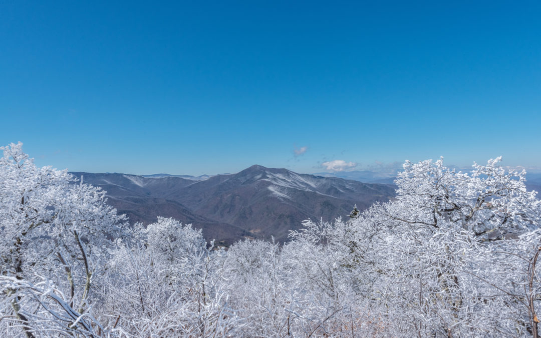 Winter views in the Blue Ridge Mountains