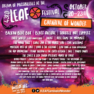 43rd LEAF Festival @ Lake Eden | Black Mountain | North Carolina | United States