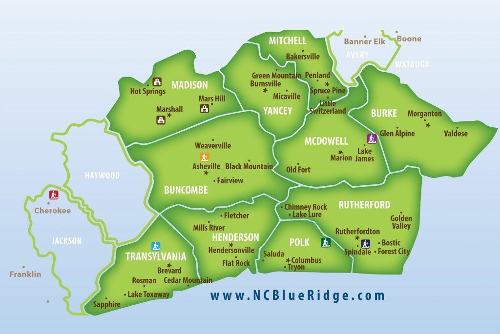 Blue Ridge Counties Map