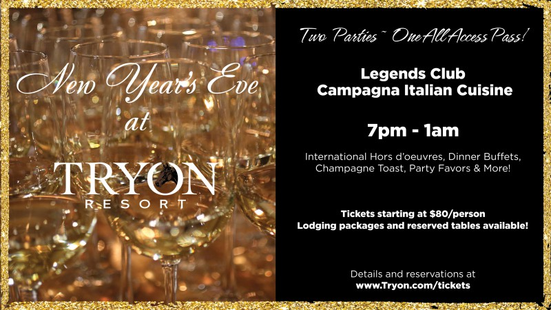 New Year's Eve at Tryon Resort