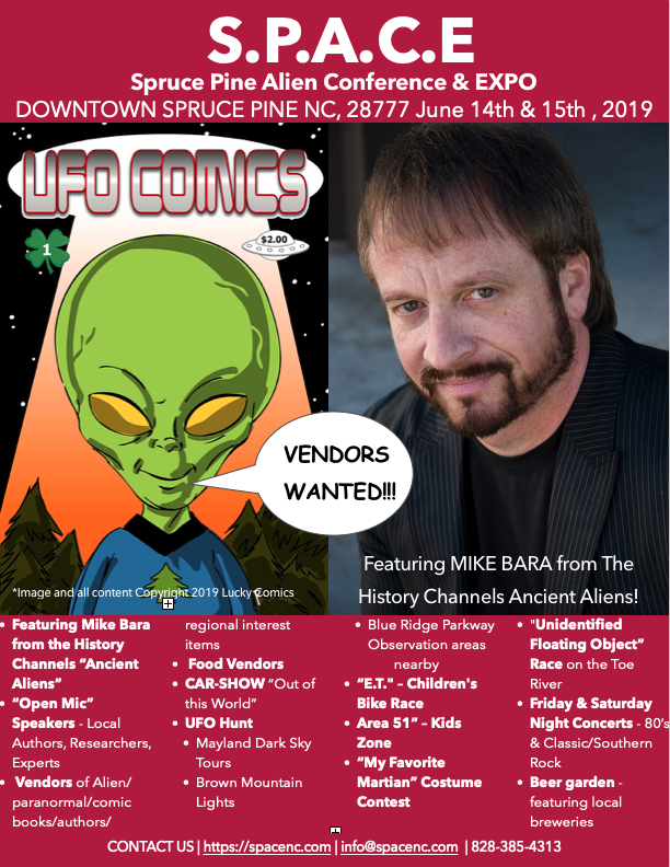 S.P.A.C.E. SPRUCE PINE ALIEN CONFERENCE AND EXPO