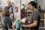 visiting with local potter_Toe River Studio Tour